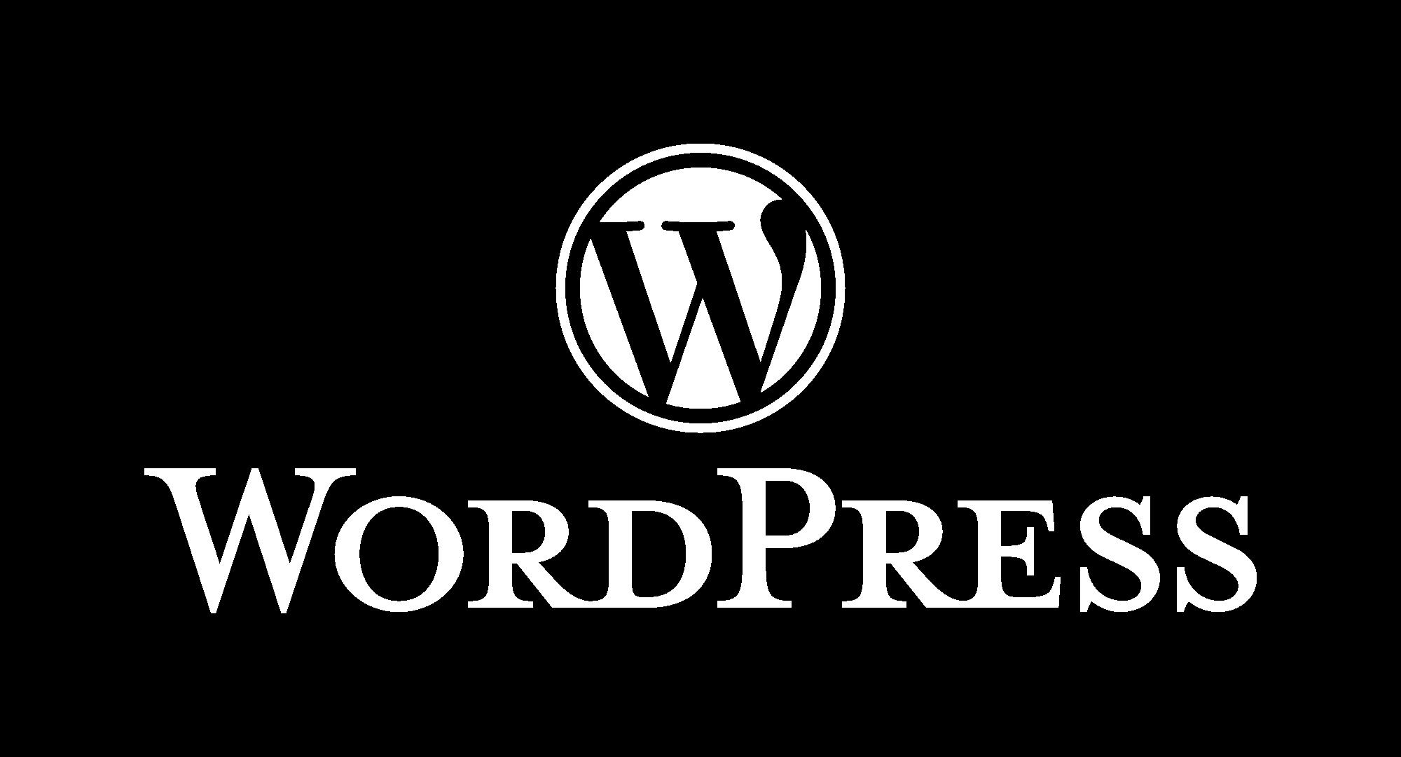 WordPress logotype alternative white - Desarrollo Web - 4